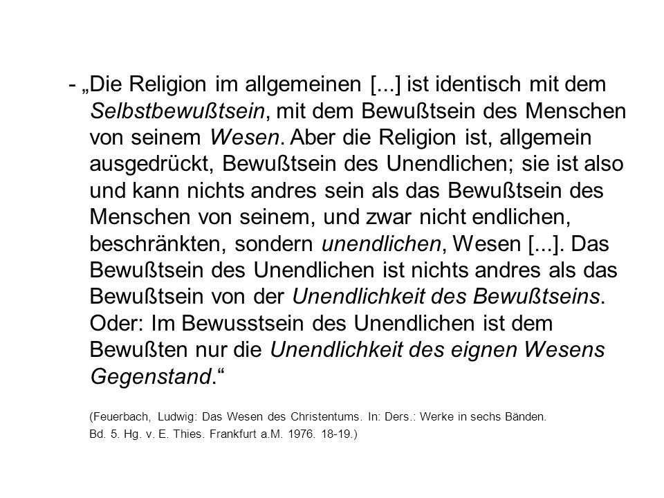 """- """"Die Religion im allgemeinen ["""